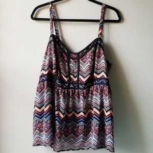 Torrid Multicolor Zigzag Pattern Sweetheart Tank 2